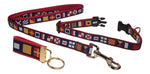 "Preston Ribbons ""Nautical Code Flag"" Collar and Leash, SMALL Dogs, FREE Matching Key Ring"