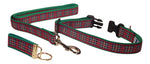 "Preston Ribbons ""Royal Stewart Plaid"" Collar and Leash, MEDIUM/LARGE Dogs, FREE Matching Key Ring"