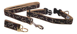 "Preston Ribbons ""Camo"" Collar and Leash, MEDIUM/LARGE Doga, FREE Matching Key Ring"