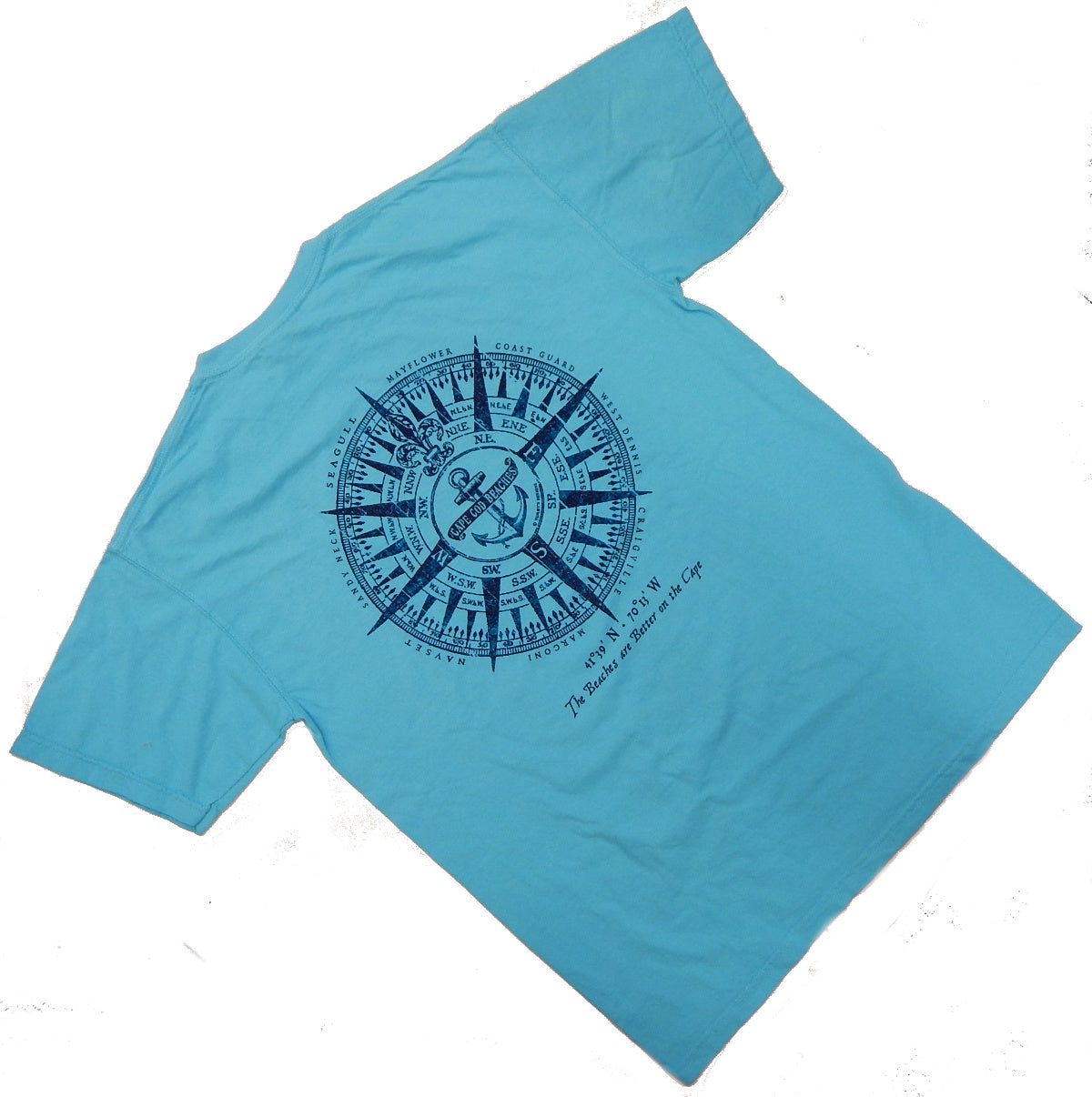 Beaches of Cape Cod<br>Pigment-Dyed Short Sleeve T-Shirt<br>by Tommy's Designs