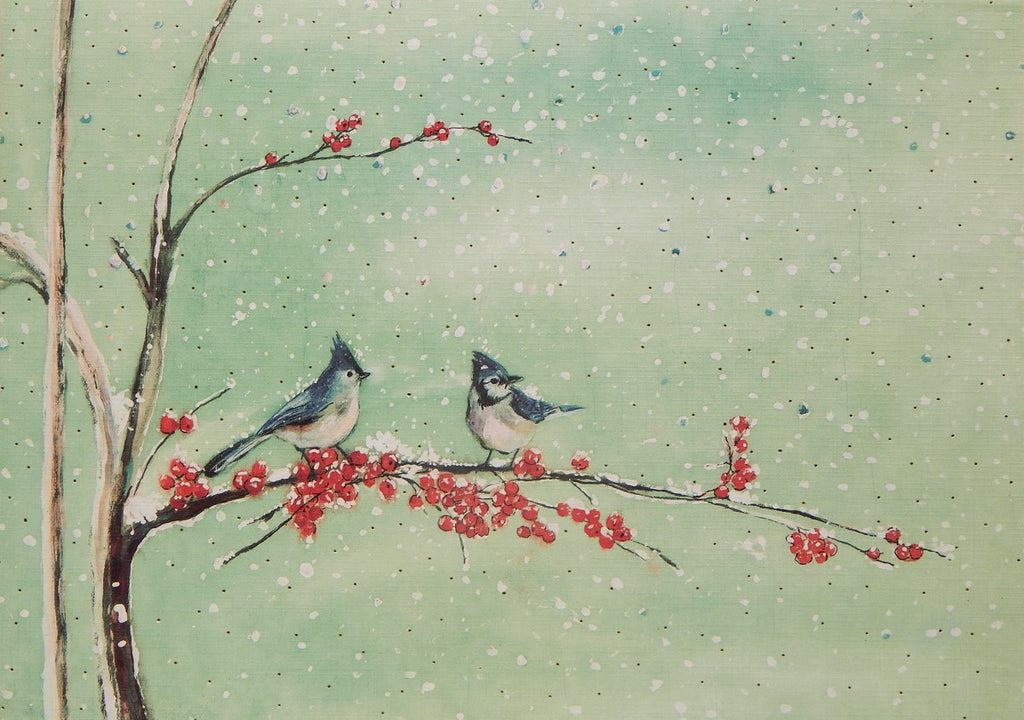 Bird Christmas Cards (#1049)<br>KEEPSAKE BOX<br>by Peter Pauper Press