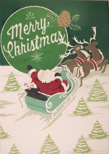 """Merry Christmas""<br>Nostalgic Christmas Cards (#1057)<br>by Masterpiece Studios"