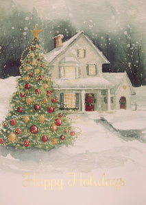 """Happy Holidays""<br>Scenic Christmas Cards (#1059)<br>by Masterpiece Studios"