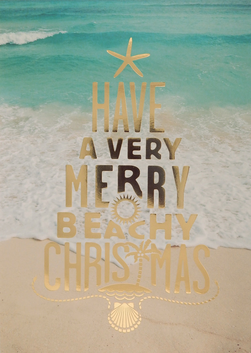 """Have a Very Merry Beachy Christmas""<br>Nautical Christmas Cards (#1066)<br>by Masterpiece Studios"