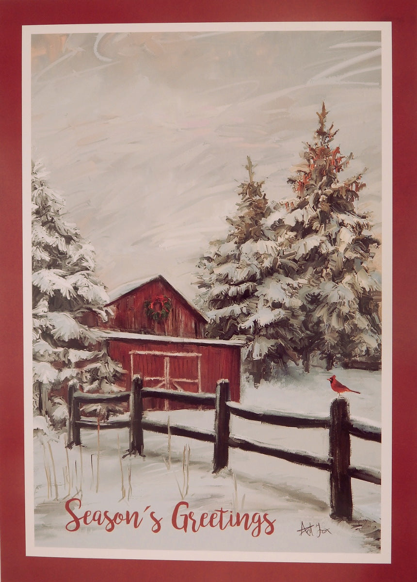 """Season's Greetings""<br>Scenic Christmas Cards (#1069)<br>by Masterpiece Studios"