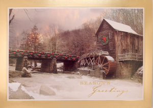 """Season's Greetings""<br>Scenic Christmas Cards (#1073)<br>by Masterpiece Studios"