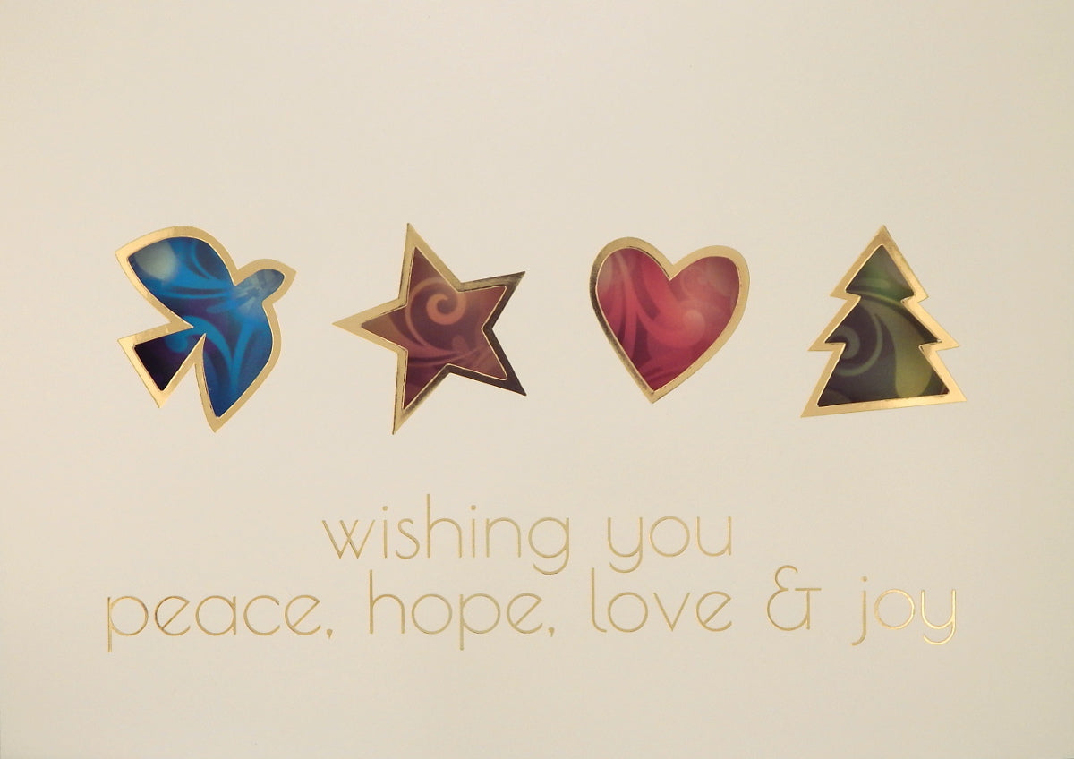 """wishing you peace, hope, love and joy""<br>Scenic Christmas Cards (#1074)<br>by Masterpiece Studios"