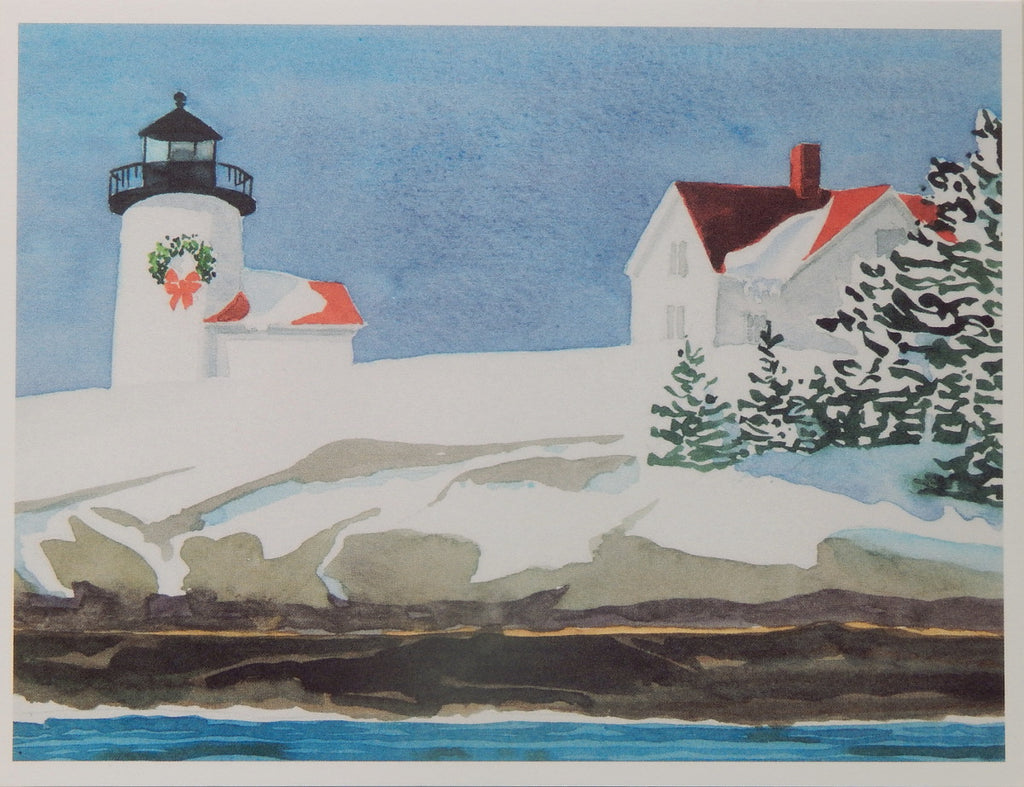 Lighthouse Holiday Notecards (#1087)<br>Blank Inside, No Box!<br>by Anne Kilham