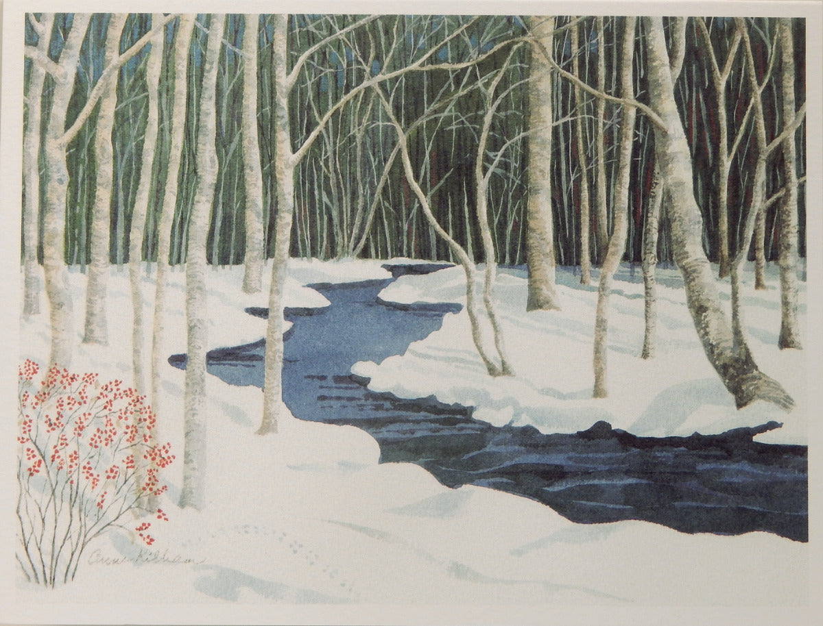 Scenic Holiday Notecards (#1088)<br>Blank Inside, No Box!<br>by Anne Kilham