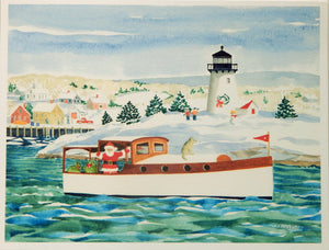 Lighthouse Holiday Cards (#1090)<br>Blank Inside, No Box!<br>by Anne Kilham