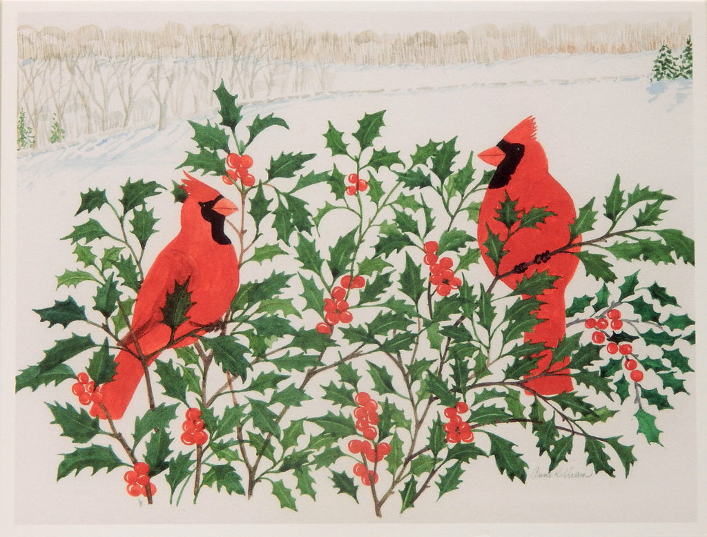 Bird Holiday Notecards (#1092)<br>Blank Inside<br>by Anne Kilham