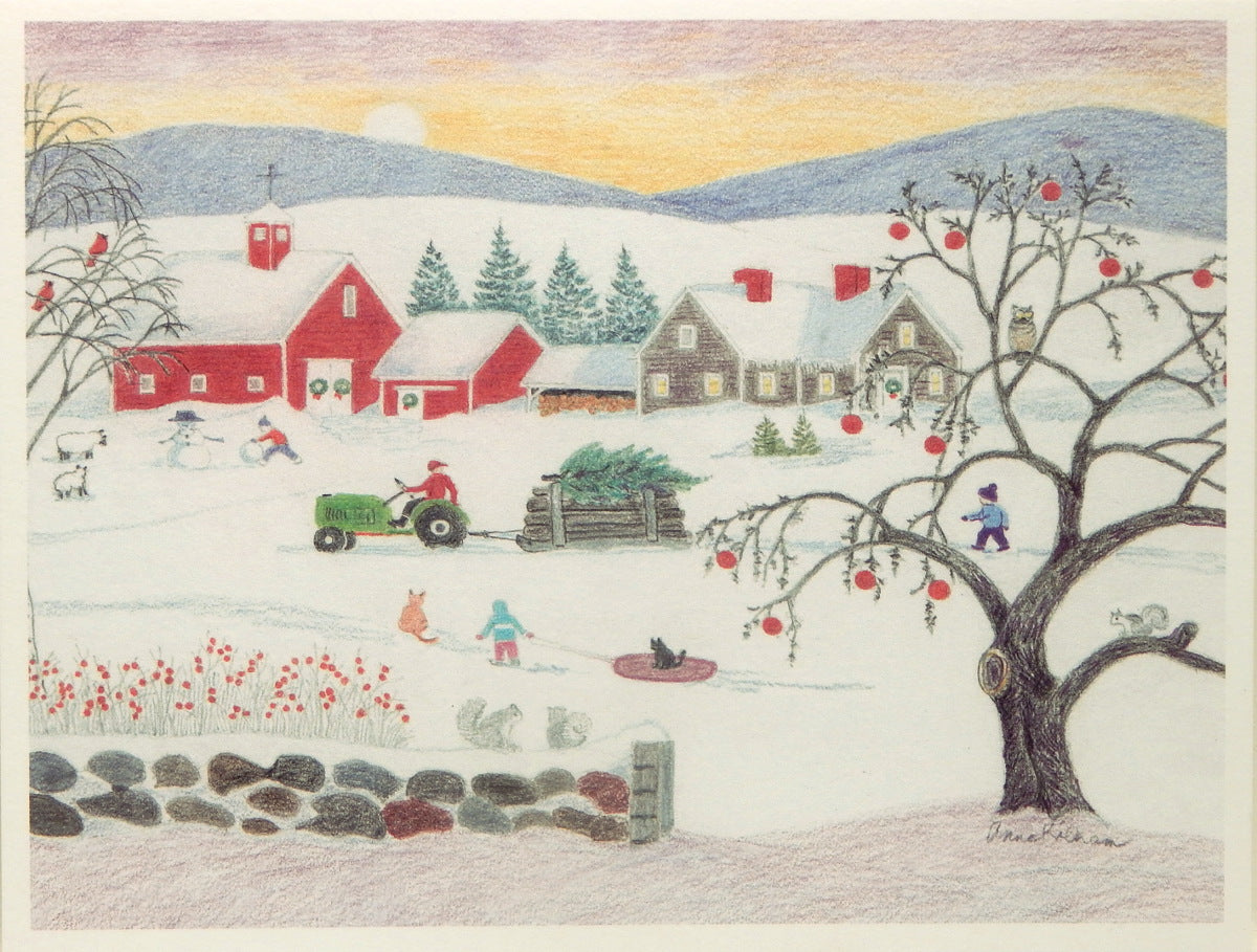 Scenic Holiday Notecards (#1094)<br>Blank Inside<br>by Anne Kilham