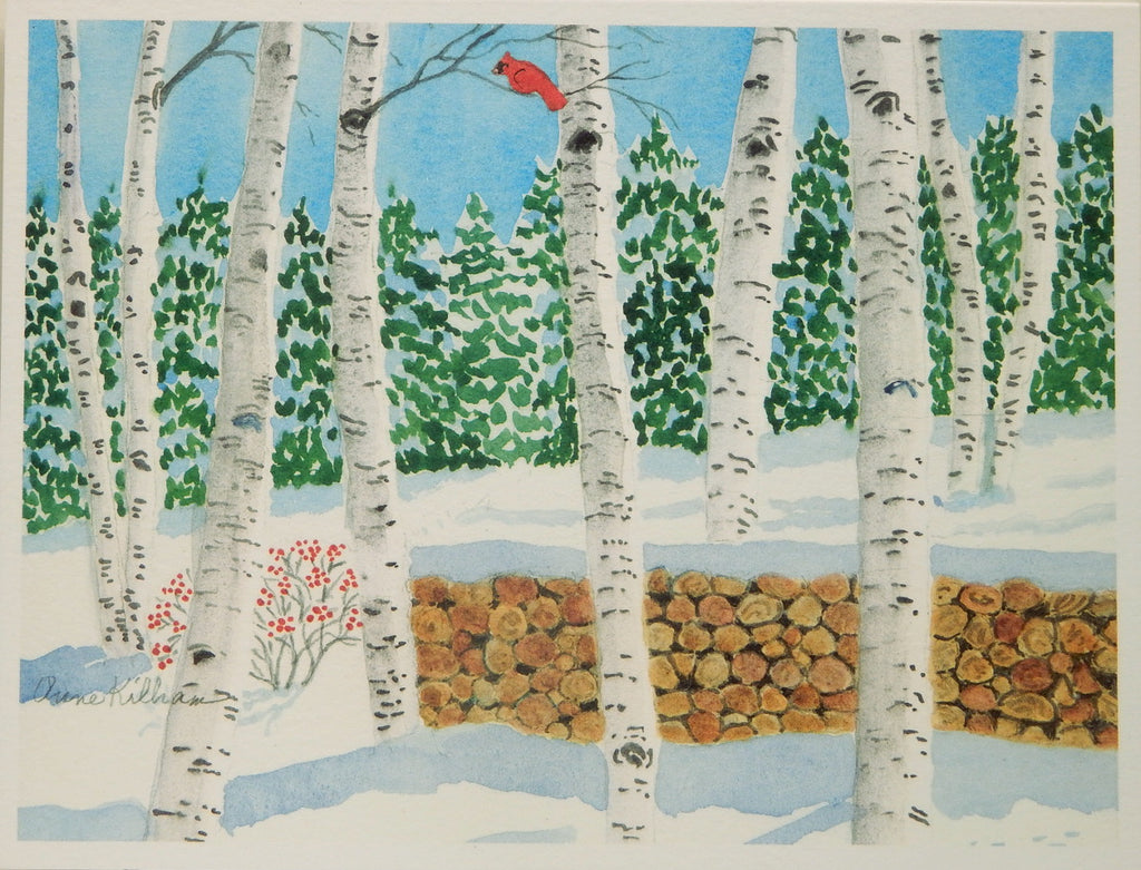 Scenic Holiday Notecards (#1095)<br>Blank Inside, No Box!<br>by Anne Kilham