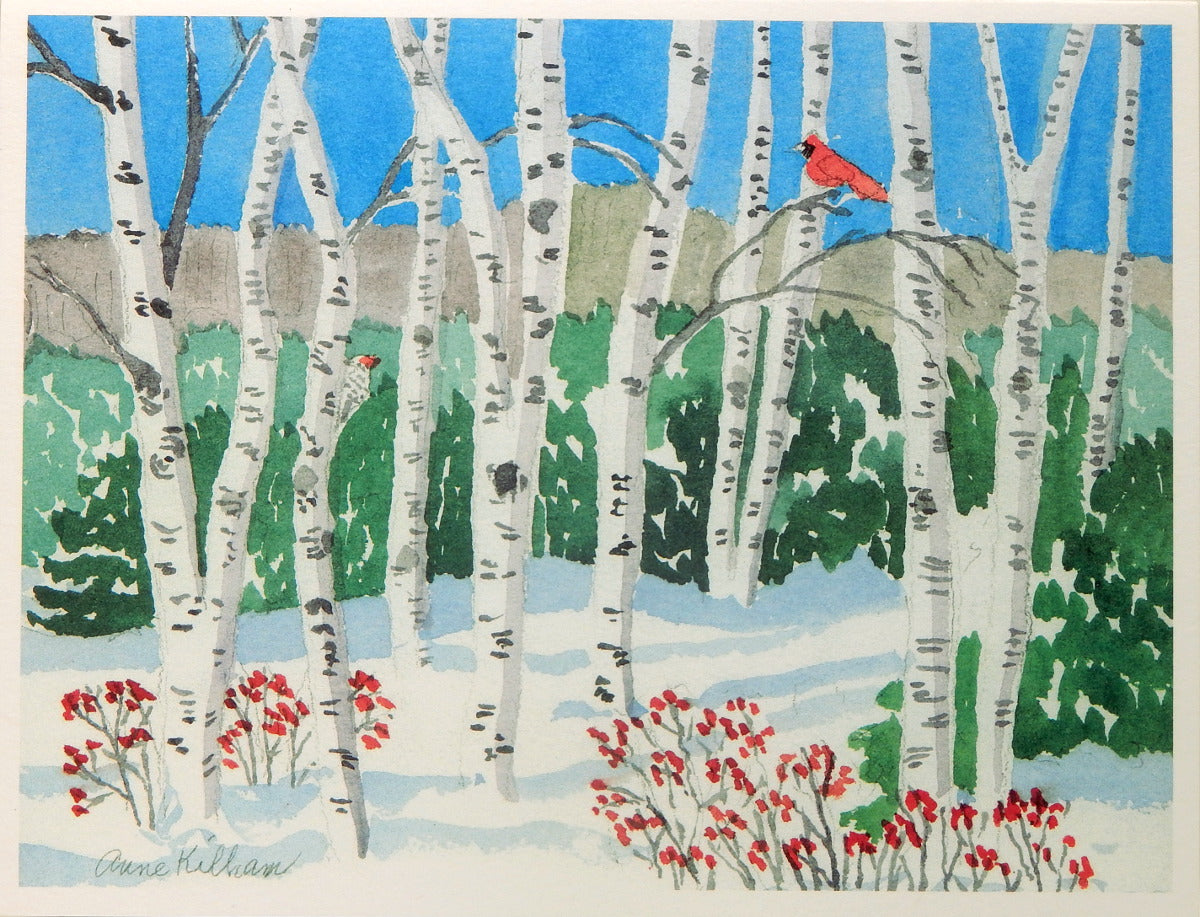 Scenic Holiday Notecards (#1097)<br>Blank Inside, No Box!<br>by Anne Kilham
