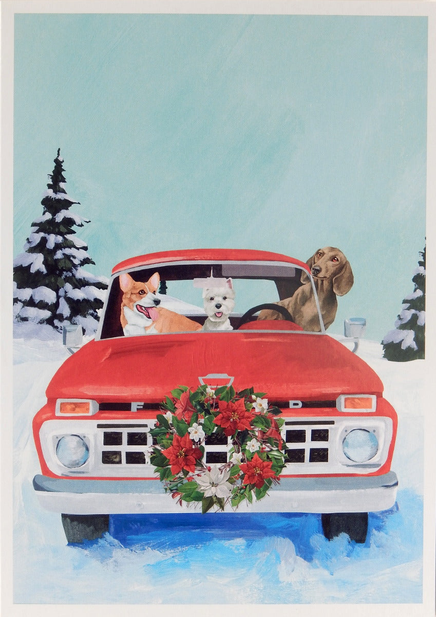 Dog Christmas Cards (#1103)<br>100% Recycled<br>by Allport Editions