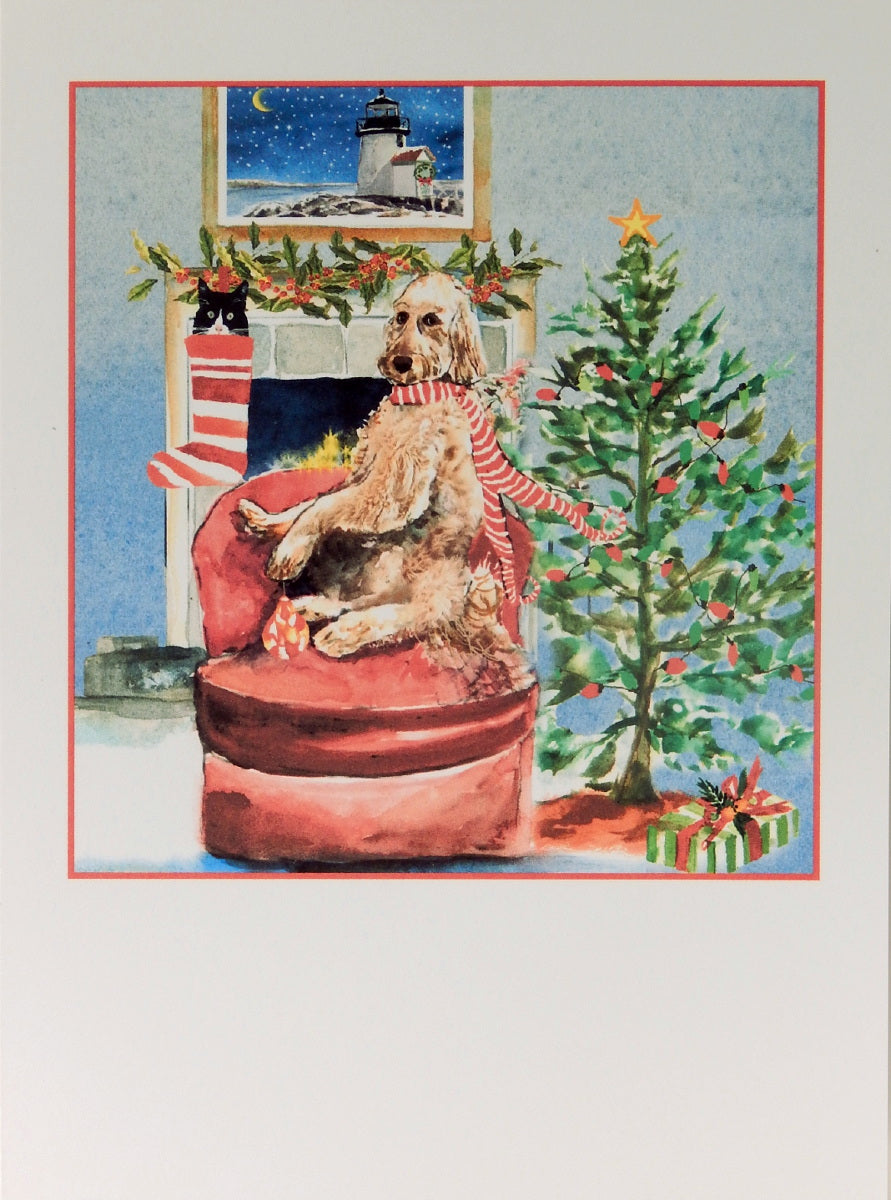 "Dog Christmas Cards (#1112)<br><font color=""red""><b>SMALLER CARD</b></font><br>by Shirley Bell"