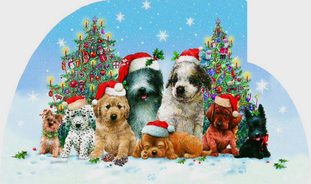 Dog Christmas Cards (#1114)<br>Tri-Fold Panarama Collection<br>by LPG Greetings