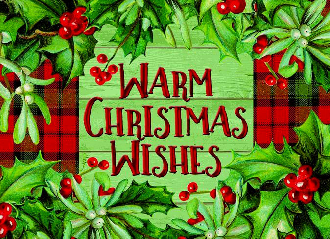 """Warm Christmas Wishes""<br>Fun Christmas Cards (#1122)<br>by LPG Greetings"