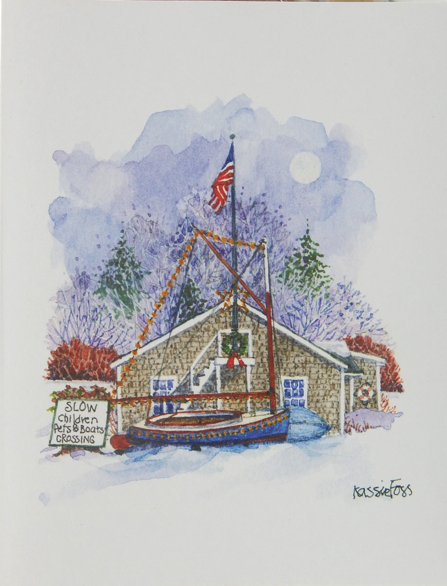 "Nautical Christmas Cards (#1157)<br><font color=""red""><b>SMALLER CARD</b></font><br>by Onion Hill Designs"