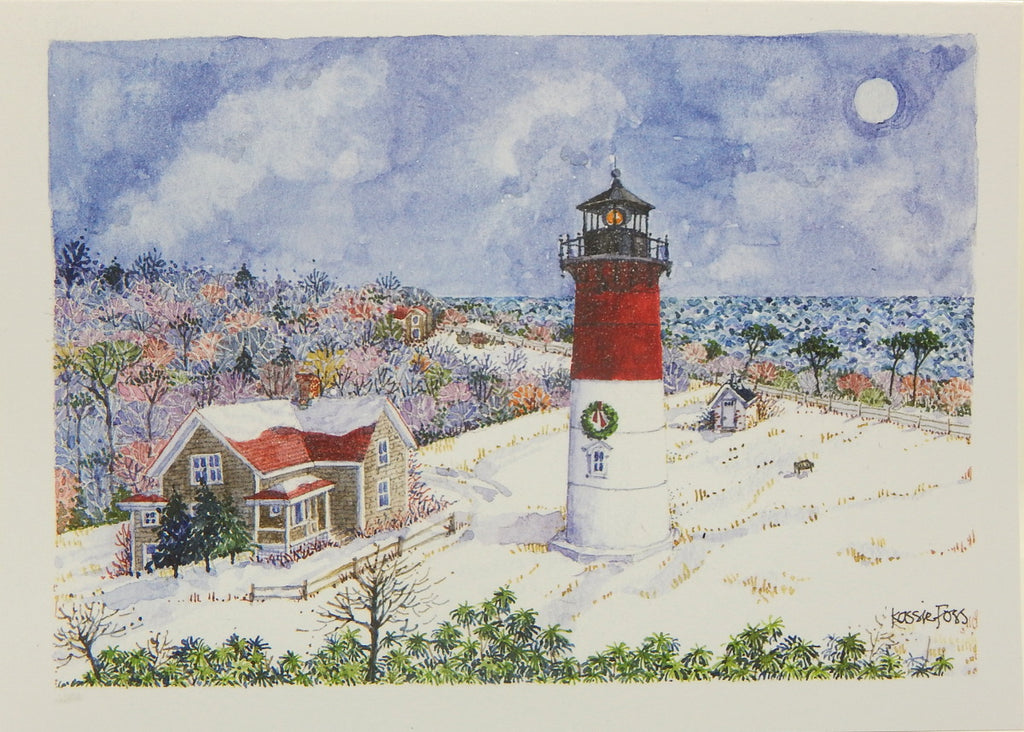 Lighthouse Christmas Cards (#1159)<br>by Onion Hill Designs