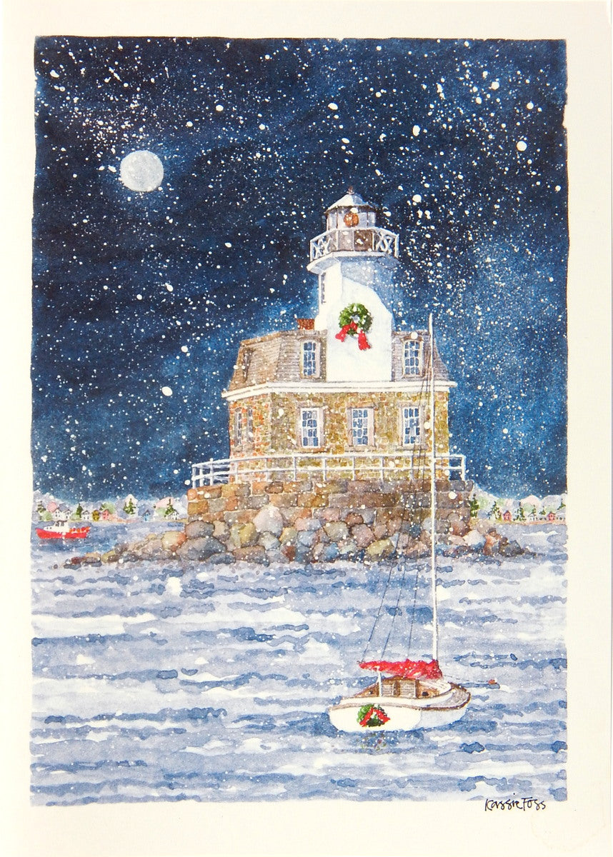 Lighthouse Christmas Cards (#1161)<br>by Onion Hill Designs