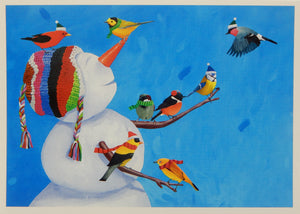 Bird & Snowman Christmas Cards (#1172)<br>100% Recycled<br>by Allport Editions