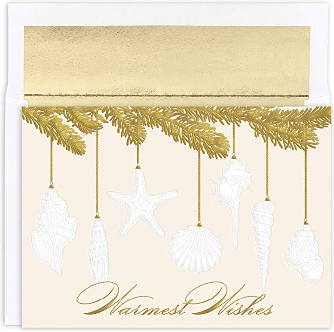"""Warmest Wishes""<br>Nautical Christmas Cards (#1182)<br>by Masterpiece Studios"