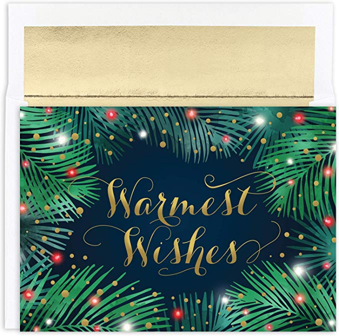 """Warmest Wishes""<br>Tropical Christmas Cards (#1184)<br>by Masterpiece Studios"