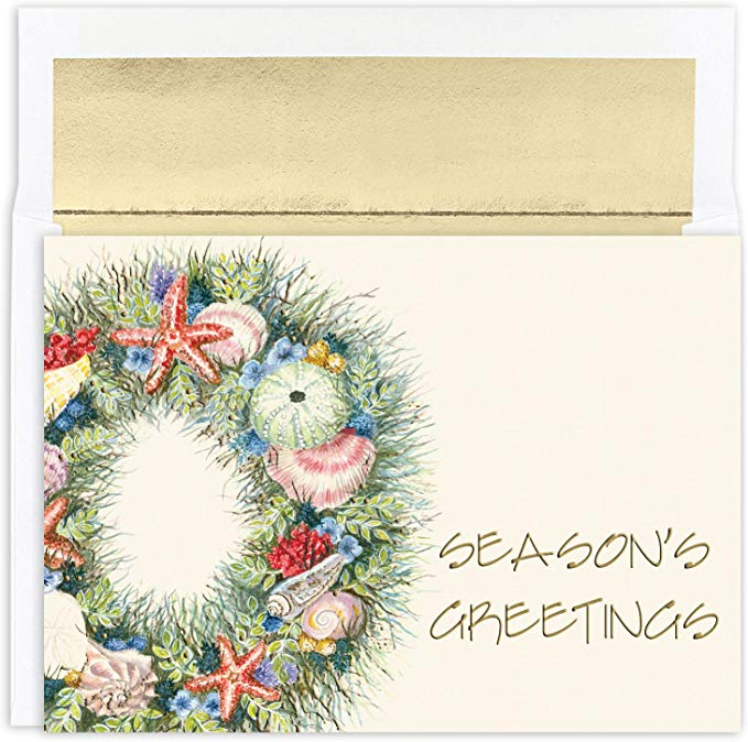 """Season's Greetings""<br>Nautical Christmas Cards (#1185)<br>by Masterpiece Studios"
