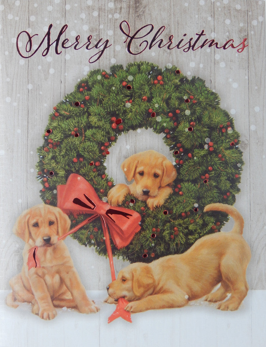 """Merry Christmas""<br>Dog Christmas Cards (#1194)<br>NEW! by Lang"
