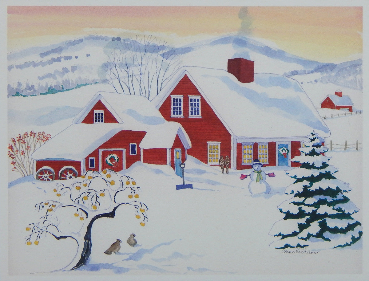 Scenic Holiday Notecards (#1199)<br>Blank Inside, No Box!<br>NEW! by Anne Kilham