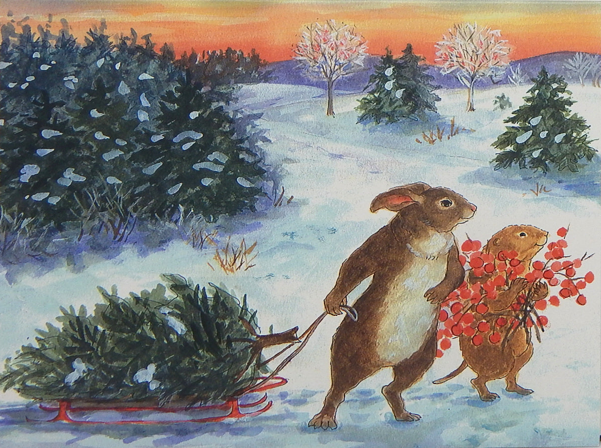 Wildlife Holiday Notecards (#1200)<br>Blank Inside, Story Line on Back<br>NEW! by Woodfield Press
