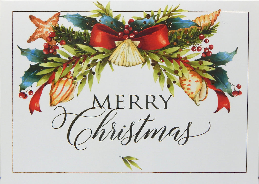 """Merry Christmas""<br>Nautical Christmas Cards (#1215)<br>NEW! by Masterpiece Studios"