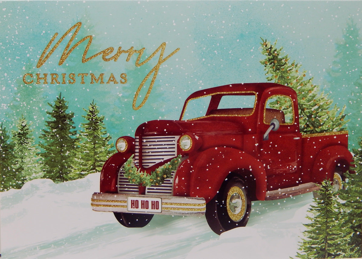"""Merry Christmas""<br>Scenic Christmas Cards (#1216)<br>NEW! by Masterpiece Studios"