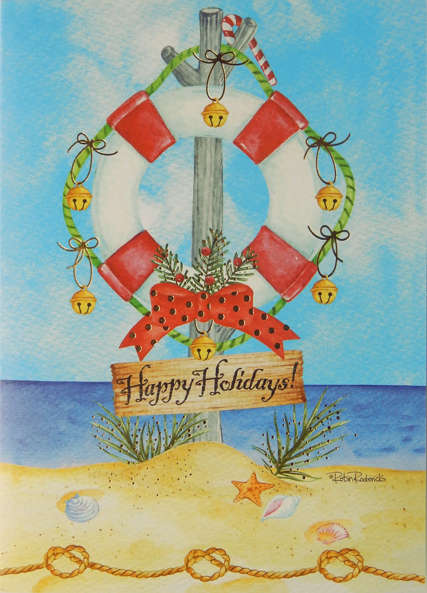 """Happy Holidays""<br>Nautical Christmas Cards (#1218)<br>NEW! by Masterpiece Studios"