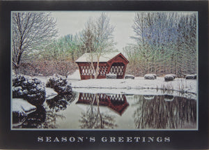 """Season's Greetings""<br>Covered Bridge Christmas Cards (#1219)<br>NEW! by Masterpiece Studios"