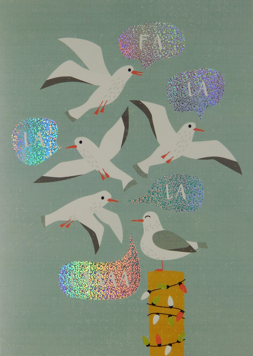 """FA LA LA LA LAAA""<br>Bird Christmas Cards (#1220)<br>NEW! by Masterpiece Studios"