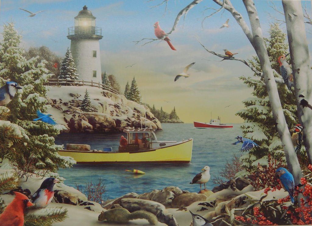 Lighthouse Christmas Cards (#1221)<br>NEW! by Vermont Christmas Co.