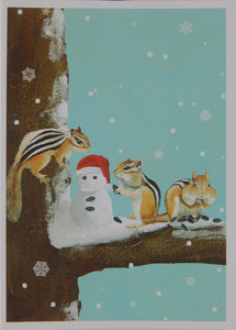 Wildlife & Snowman Christmas Cards (#1230)<br>100% Recycled<br>NEW! by Allport Editions