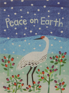 """Peace on Earth""<br>Bird Christmas Cards (#1231)<br><font color=""red""><br>Slightly Smaller Card!</b></font><br>100% Recycled<br>NEW! by Allport Editions"