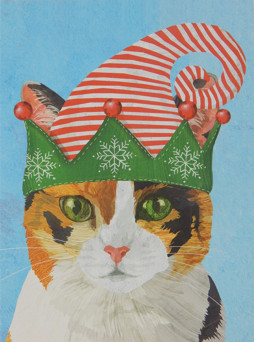 "Cat Christmas Cards (#1233)<br><font color=""red""><br>Slightly Smaller Card!</b></font><br>100% Recycled<br>NEW! by Allport Editions"