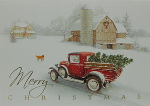 """Merry Christmas""<br>Scenic Christmas Cards (#1239)<br>Deluxe Glitter<br>NEW! by LPG Greetings"