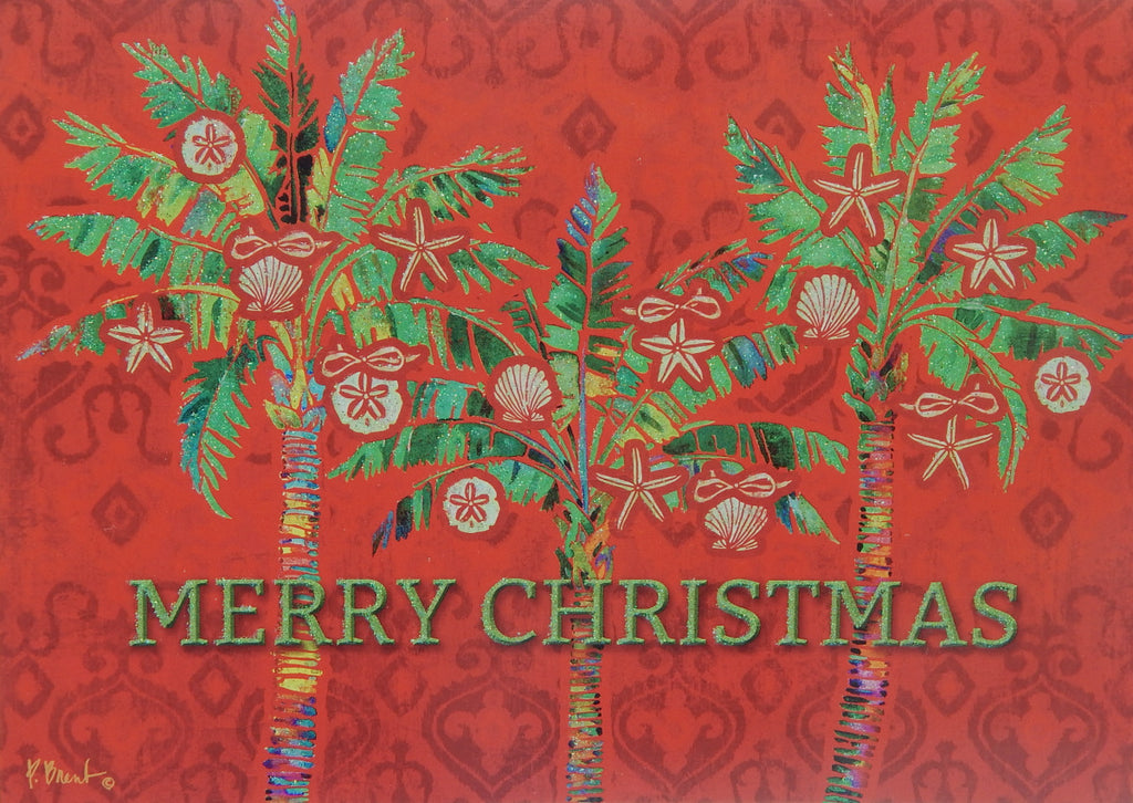 """Merry Christmas""<br>Nautical Christmas Cards (#1241)<br>Deluxe Glitter<br>NEW! by LPG Greetings"