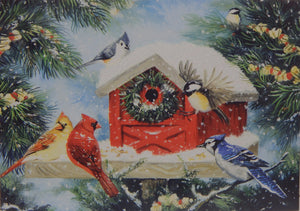 Bird Christmas Cards (#1242)<br>Deluxe Glitter<br>NEW! by LPG Greetings