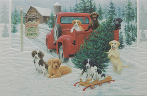 Dog Christmas Cards (#1250)<br>NEW! Embossed by Pumpernickel Press