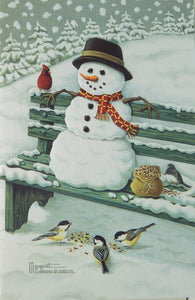 Snowman Christmas Cards (#1252)<br>NEW! Embossed by Pumpernickel Press