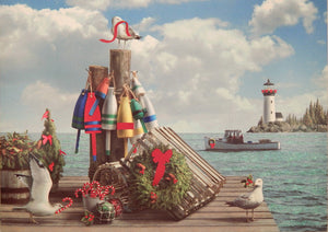 Lighthouse Christmas Cards (#269B)<br>by Cape Shore