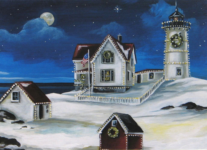 Lighthouse Christmas Cards (#459)<br>by East Coast Print Images