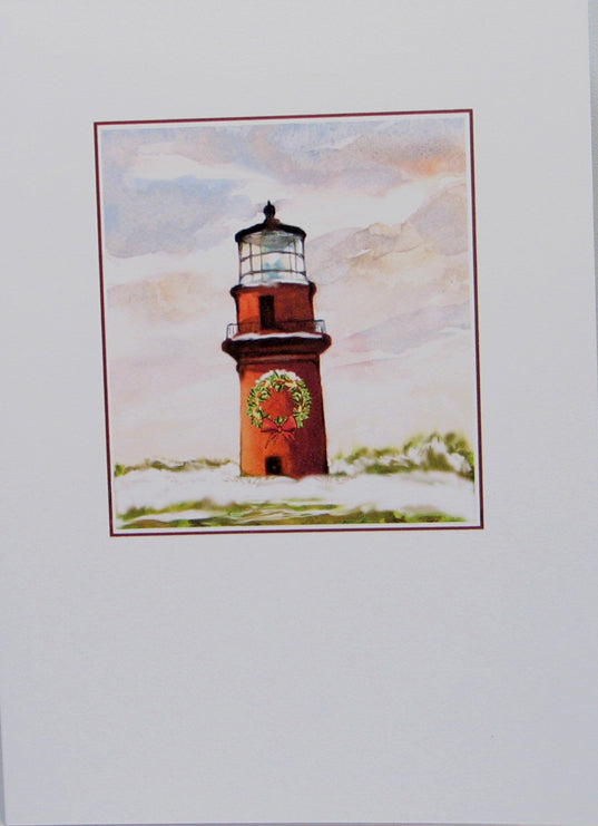 "Lighthouse Christmas Cards (#541)<br><font color=""red""><b>SMALLER CARD</b></font><br>by Shirley Bell"