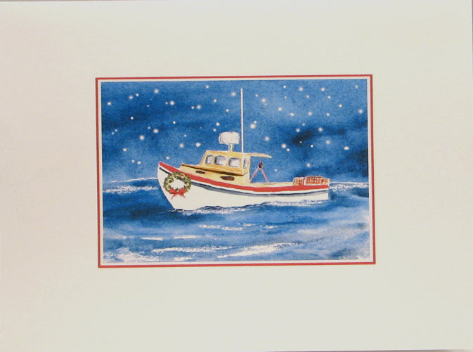 "Nautical Christmas Cards (#548)<br><font color=""red""><b>SMALLER CARD</b></font><br>by Shirley Bell"